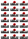 Lest We Forget Army Stickers - 21 per sheet